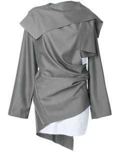Moohong платье асимметричного кроя 36 серый Moohong