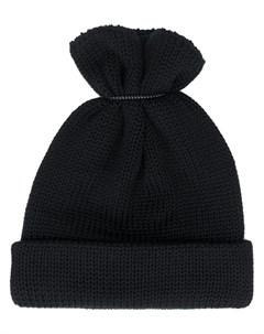 Hender scheme шапка бини крупной вязки один размер черный Hender scheme