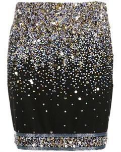 Leonard декорированная юбка мини m черный Leonard