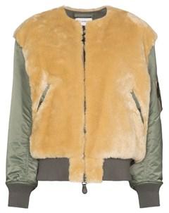 Hyke куртка со вставками из шерпы 3 зеленый Hyke