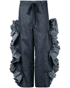 Roberts wood брюки с отделкой оборками s серый Roberts wood