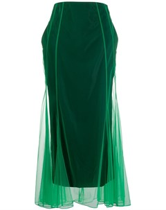 Quetsche расклешенная юбка макси 36 зеленый Quetsche