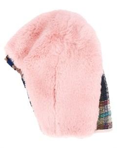 Quetsche шапка из искусственного меха один размер розовый Quetsche