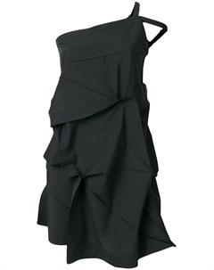 132 5 issey miyake платье с драпировкой 3 черный 132 5. issey miyake