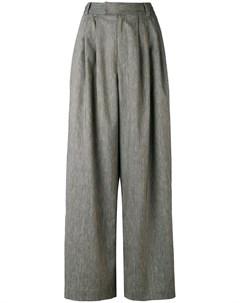 Pas de calais брюки палаццо со складками 40 серый Pas de  calais