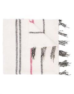 Denis colomb шарф в полоску один размер белый Denis colomb