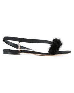 Olgana сандалии с мехом норки 39 черный Olgana