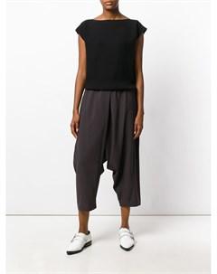 132 5 issey miyake укороченные брюки с заниженным шаговым швом 2 серый 132 5. issey miyake