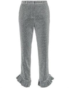 Elaidi укороченные строгие брюки 44 металлик Elaidi