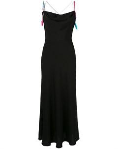 Anna october платье макси с драпировкой m черный Anna october
