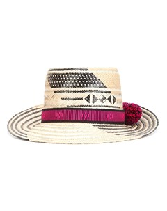 Yosuzi шляпа с помпонами один размер черный Yosuzi