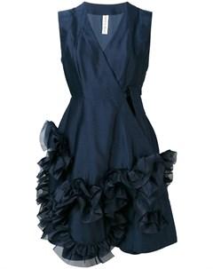 Roberts wood платье миди с драпировками s синий Roberts wood