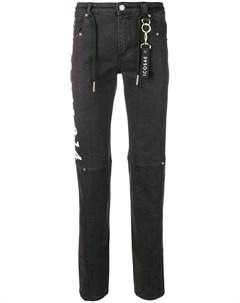 Icosae джинсы скинни с графическим принтом l черный Icosae