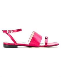 Nicole saldana сандалии с ремешком на пряжке 37 розовый Nicole saldaña
