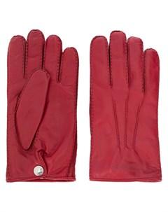 перчатки с тисненым логотипом Alexander mcqueen