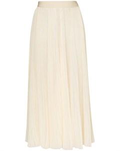 Hyke шифоновая юбка со складками 3 желтый Hyke