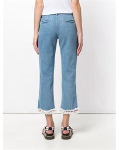 Jour ne джинсы с кружевной отделкой 34 синий Jour/né