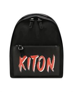 Рюкзак с отделкой из кожи аллигатора Kiton