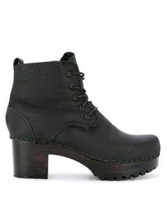 Ботинки на каблуке со шнуровкой No.6