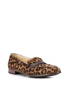 Лоферы с леопардовым принтом Sarah flint