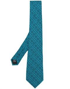 галстук с геометрическим узором Mp  massimo piombo