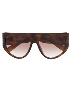 Массивные солнцезащитные очки в D образной оправе Max mara