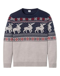 Пуловер с круглым вырезом Bonprix