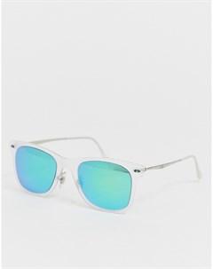 Квадратные солнцезащитные очки с зелеными стеклами Мульти Ray-ban®