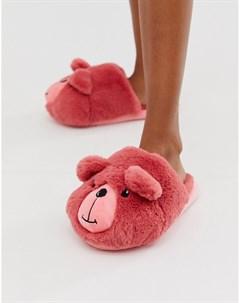 Розовые слиперы Zachary Розовый Asos design