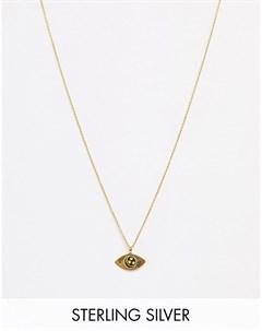 Ожерелье из позолоченного серебра Золотой Kingsley ryan