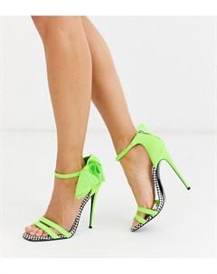 Туфли на каблуке с бантиком x Christian Cowan Asos design
