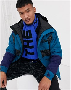 Шарф синего черного цвета с логотипом Синий The north face