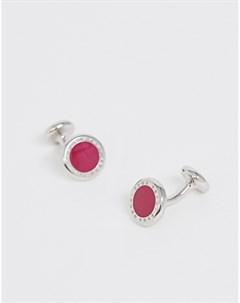 Розовые круглые запонки BOSS Tobin Розовый Hugo
