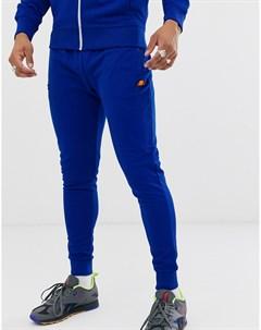 Синие спортивные брюки с кромкой манжетом Bertoni Синий Ellesse