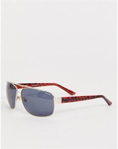 Золотистые солнцезащитные очки авиаторы в черепаховой оправе Levis Мульти Levi's®