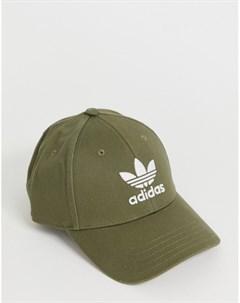 Кепка хаки с логотипом Зеленый Adidas originals
