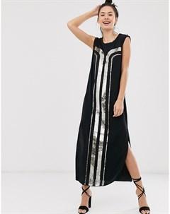 Платье футляр с отделкой пайетками в стиле арт деко Sass and bide