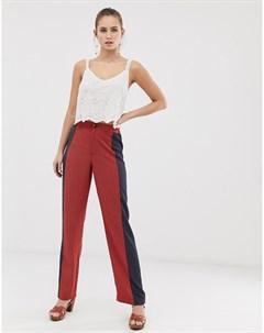 Широкие брюки с контрастными вставками с принтом gitta Brave soul