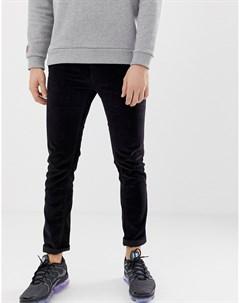Вельветовые брюки узкого кроя Черный D-struct