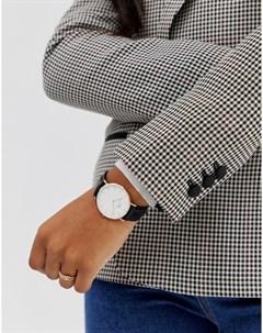 Классические часы с черным ремешком и отделкой цвета розового золота Sheffield Daniel wellington