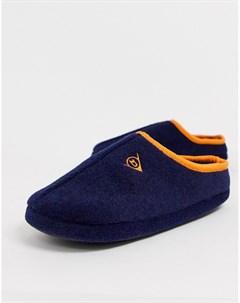 Темно синие флисовые тапочки Темно синий Dunlop