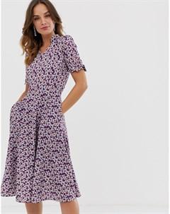 Платье миди с цветочным принтом Uttam boutique