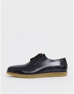 Черные туфли со шнуровкой Zign