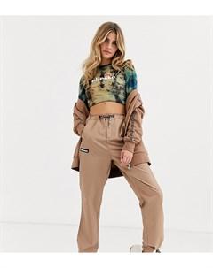 Спортивные штаны с геометрическим принтом и затяжками Ellesse Коричневый