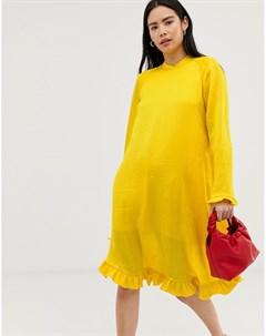 Платье из жатой ткани Pretty Mads nørgaard