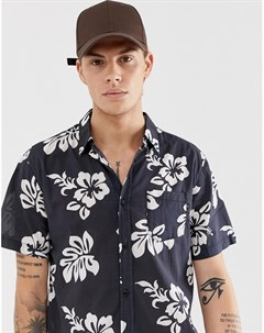 Рубашка с принтом Черный Rusty