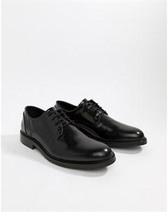 Черные блестящие туфли на шнуровке Zign