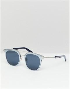 Солнцезащитные очки в стиле ретро Серебряный Police