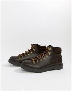 Коричневые походные ботинки Zign