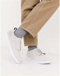 Светло серые замшевые кроссовки Boxfresh